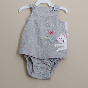 Carter's One Pieces - *B2G1* Carters Baby Girl Cat Onesie Romper NWT
